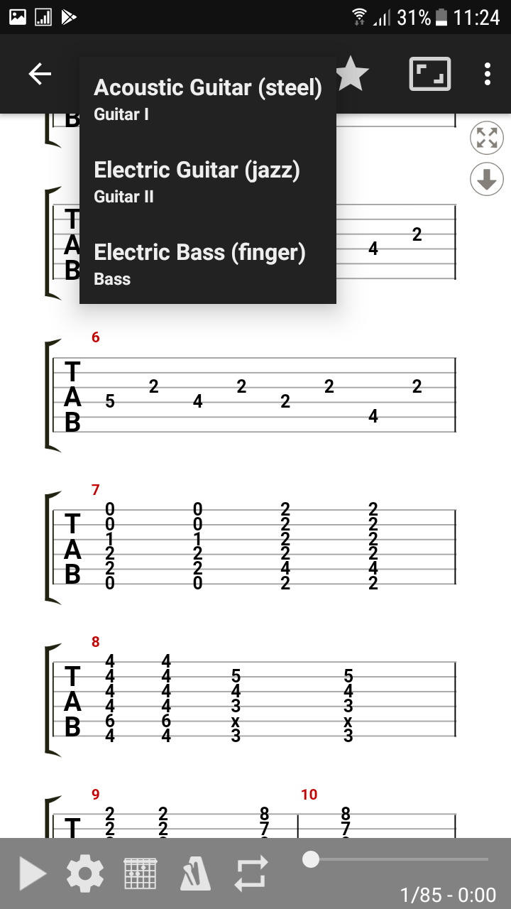 GuitarTab - Tabs and chords : Guitar tab finder and player for Android and iOS - like Songsterr ...